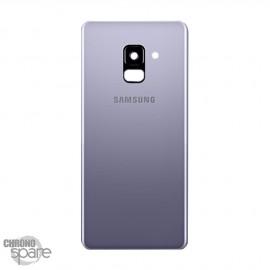 Vitre arrière+vitre caméra Orchidée (officiel) Samsung Galaxy A8 A530F
