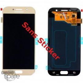 Bloc LCD + Vitre tactile Samsung A5 2017 A520F (officiel) GH97-19733B Or