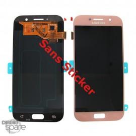 Ecran LCD & Vitre Tactile Rose Samsung Galaxy A5 2017 A520F (Officiel) - GH97-19733D