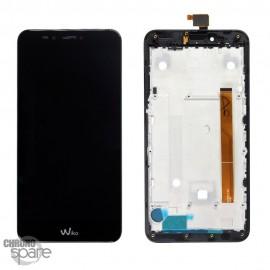 Ecran LCD et Vitre Tactile Noir Wiko U Pulse