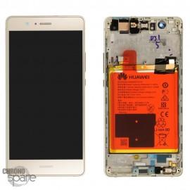 Bloc écran LCD + vitre tactile + batterie Huawei P9 Lite Or (officiel)