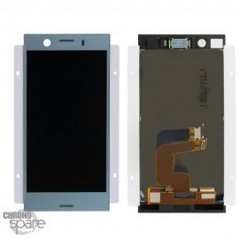 Ecran LCD + vitre tactile Bleu Sony Xperia XZ1 Compact (officiel)