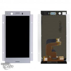Ecran LCD + vitre tactile Argent Sony Xperia XZ1 Compact (officiel)