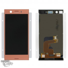Ecran LCD + vitre tactile Rose Sony Xperia XZ1 Compact (officiel)