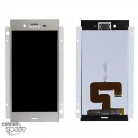 Ecran LCD + vitre tactile Argent Sony Xperia XZ1 (officiel)