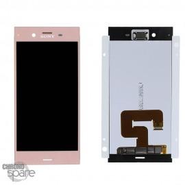 Ecran LCD + vitre tactile Rose Sony Xperia XZ1 (officiel)