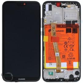 Bloc écran LCD + vitre tactile + batterie Huawei P20 Lite Noir (officiel)