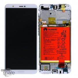 Bloc écran LCD + vitre tactile + batterie Huawei P Smart Blanc (officiel)