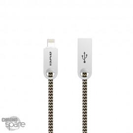 Câble tressé renforcé Lightning - Or