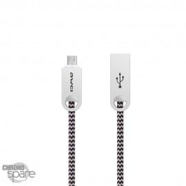 Câble tressé renforcé Micro USB- Or Rose