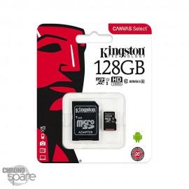 Carte mémoire Kingston Micro SDXC 128Go Class 10 + Adaptateur