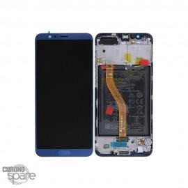 Ecran LCD + Vitre tactile Bleu Honor View 10 BKL-L09 (officiel)