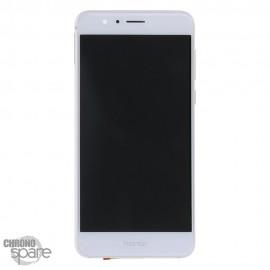 Ecran LCD + Vitre tactile Honor 8 blanc (officiel)
